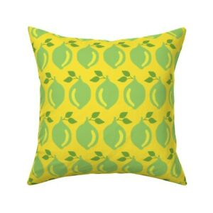Food Fruit Vitamins Farmers Throw Pillow Cover w Optional Insert by Roostery