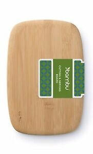 Bambu, Cutting and Serving Bamboo Bar Board Hand-Shaped and Finished