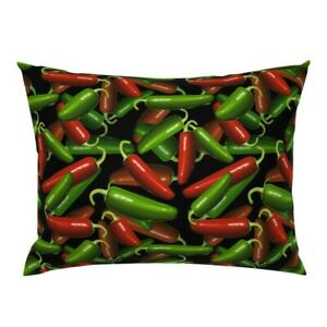 Jalapenos Hot Peppers Chilies Chili Mexican Gardening Pillow Sham by Roostery