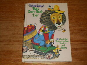 Richard Scarry's Best Story Book Ever 82 Round the Year Stories 1968 HC