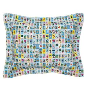 Loteria Tarot Cards Mexico Mexican Spanish Pillow Sham by Roostery