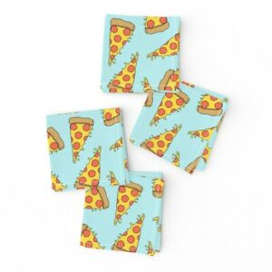 Cocktail Napkins Pizza Food Junk Pizzas 90S Party Set of 4