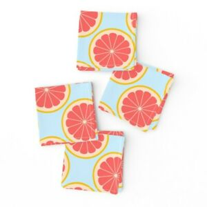 Cocktail Napkins Grapefruit Citrus Food Breakfast Pamplemousse Drink Set of 4