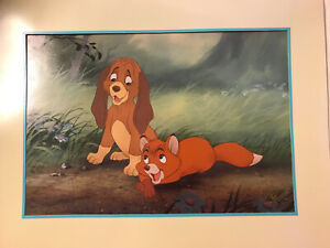 The Fox and the Hound Exclusive Commemorative Lithograph 1994 Walt Disney