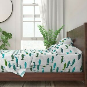 Whale Swim Designed Ocean Modern 100% Cotton Sateen Sheet Set by Roostery