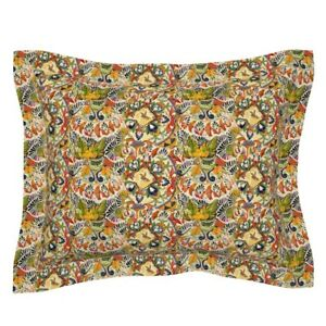 Mexican Cultural Herita Order Chaos Playful Heritage Pillow Sham by Roostery