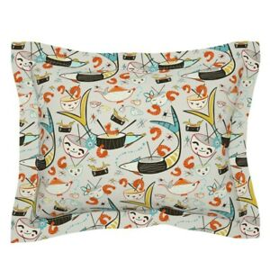 Kawaii Sushi Cute Food Japanese Teapot Teacups Pillow Sham by Roostery