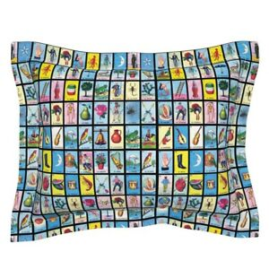 Loteria Mexico Mexican Game Cards Card Pillow Sham by Roostery