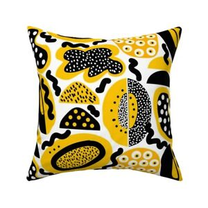 Bright Abstract Food Summer Throw Pillow Cover w Optional Insert by Roostery