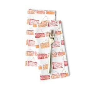 Pie Food Dessert Whipped Cream Ice Cotton Dinner Napkins by Roostery Set of 2