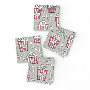 Cocktail Napkins Popcorn Food Snack Junk Food Fast Food Movie Retro Set of 4