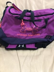 Under Armour Womens Gym Duffle Bag Purple $21.95