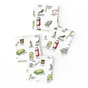 Cocktail Napkins Kawaii Food Baking Cooking Kitchen Cake Set of 4