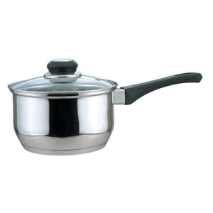 CULINARY EDGE - Saucepan with Glass Cover with Bakelite handle - 2 Quart