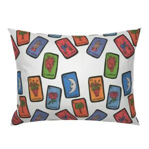 Loteria Mexican Game Cards Colorful Pillow Sham by Roostery