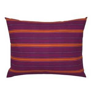 Mexican Stripe Mexico Hand Stitched Embroidery Pillow Sham by Roostery