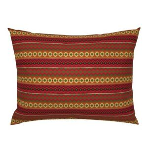 Mexican Indigenous Ethnic Native Scarlet Original Pillow Sham by Roostery
