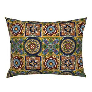 Talavera Mexican Mexican Tiles Mexico Ethnic Southwest Pillow Sham by Roostery