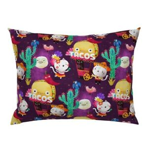 Taco And Burritos Taco Mexican Pillow Sham by Roostery