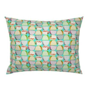 Burritos Tacos Mexican Food Texas Southwest Kitchen Pillow Sham by Roostery