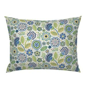 Beautiful Flowers Flowers Dots Mexican Flowers Lavender Pillow Sham by Roostery