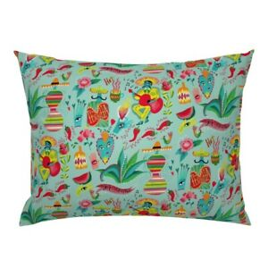 Mexican Fiesta Party Lush Happy Fun Bright Pillow Sham by Roostery