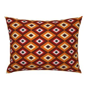 Ethnic Kilim Turkish Navajo Folk Mexican Pillow Sham by Roostery