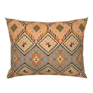 Kilim Donkey Mexican Inspired Animal Orange.Geometric Pillow Sham by Roostery