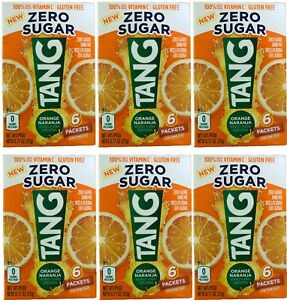TANG Orange On The Go Drink Mix 6 packet/box .77oz each (6 Boxes, 36 packets )