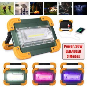 30W Emergency COB LED Floodlight Lamp Portable Work Light Camping Handle Torch