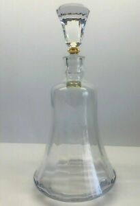 Mikasa Crystal Decanter Slovenia With Gold Trim & Stopper 11