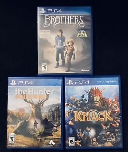 Adventure PS4 Lot Brothers The Hunter Knack For PS4 *Tested