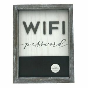 Wood Framed Sign With Chalkboard Wifi Password
