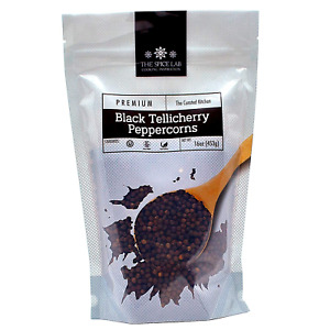 The Spice Lab Peppercorns –Tellicherry Whole Black Peppercorns for Grinder Ref
