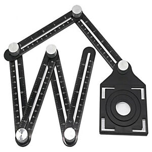 Six Fold Adjustable Glass Ceramic Tile Openings Hole Locator Ruler Drill Guide