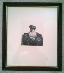 Rembrandt Etchings 2 pcs. Framed amp; Matted amp; Wired for wall hanging $500.00