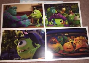 Disney Pixar Monsters University Lithograph Set of 4  NEW Mike Sully $11.20