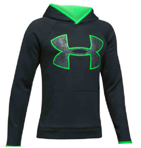 NEW Under Armour Boys' Armour Fleece Big Logo Hoodie Size Youth XS $32.95
