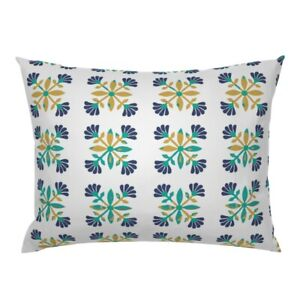 Mexican Rose Spanish Spanish Tile Aztec Turkish Mid Pillow Sham by Roostery