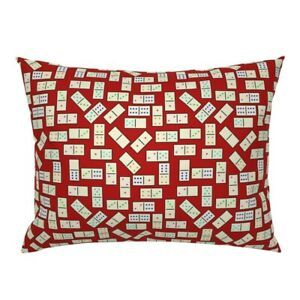 Mexican Game Board Scattered Numbers Tiles Games Domino Pillow Sham by Roostery