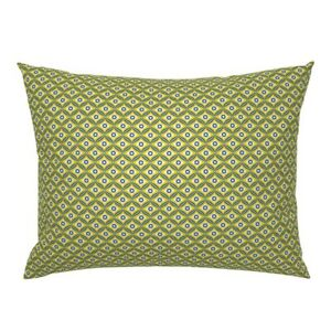 Talavera Mexican Inspired Mexico Geometric Diamond Dot Pillow Sham by Roostery