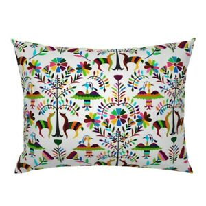 Otomi Greyhounds Mexican Otomi Pillow Sham by Roostery