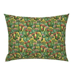Cactus Yellow Tropic Summer Mexican Flower Watercollor Pillow Sham by Roostery
