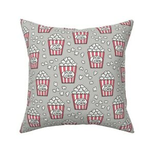 Popcorn Food Snack Junk Food Throw Pillow Cover w Optional Insert by Roostery