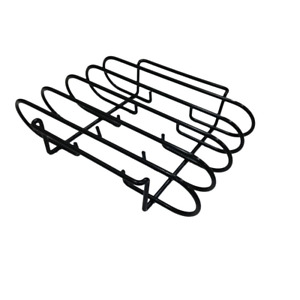 Rib Rack With Grills Smokers and Ovens Built-In Handles Nonstick Surface NEW