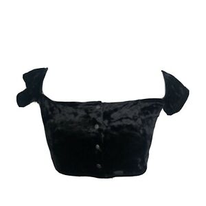 Urban Outfitters Out From Under Womens Crop Top Size Large Velvet Off Shoulder $19.51