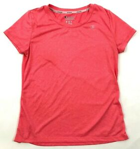 NEW Champion Dry Fit Shirt Womens Size Small Pink Heather Tee Athleisure Cardio $13.14