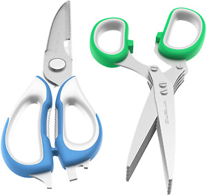 Vremi Kitchen Shears, Kitchen Scissors For Meat Poultry Fish Herbs Nuts, Herb Sc