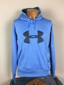 Under Armour Cold Gear Storm Semi Fitted Hoodie Heather Blue Women's Size XL $14.99