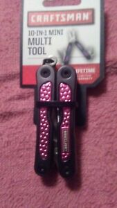 CRAFTSMAN 10-IN-1 MINI MULTI TOOL LIGHTE PINK NEW.